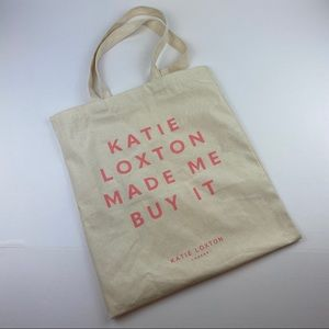 """Katie Loxton Canvas Tote """"..Made Me But It"""" NWOT"""